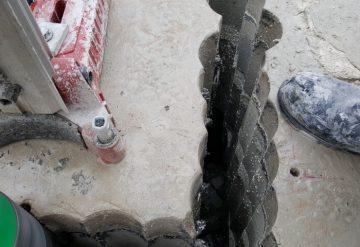 קידוח רצפת בטון עם מקדחה ייעודית