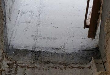 פתח בתקרת בטון לאחר עבודות קידוח