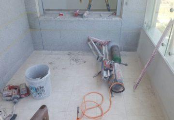 קידוח בקיר בטון
