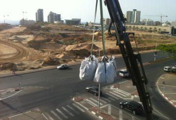 פינוי פסול בניין על ידי חברת שחר צדיק