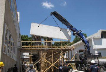 ניסור חומת בטון ליצירת פתח בקומה שנייה במכון וייצמן