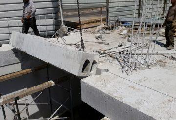 פתח בבמת בטון לאחר ניסור יחידה לטובת פתיחת פתח