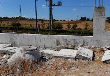 יחידות בטון לאחר ניסור חומר בטון לפני פינוי