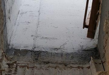 פתח בתקרת בטון לאחר קדיחה