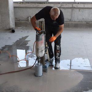 קידוח בטון ברצפה