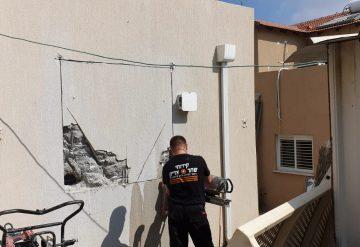 ניסור בטון בקיר מקלט